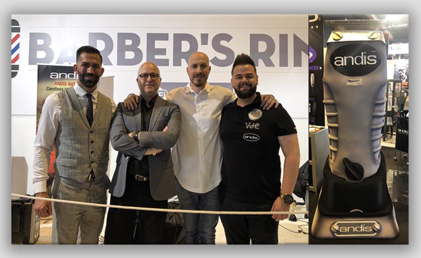 salon look 2018 barber ring andis mascota toutliner