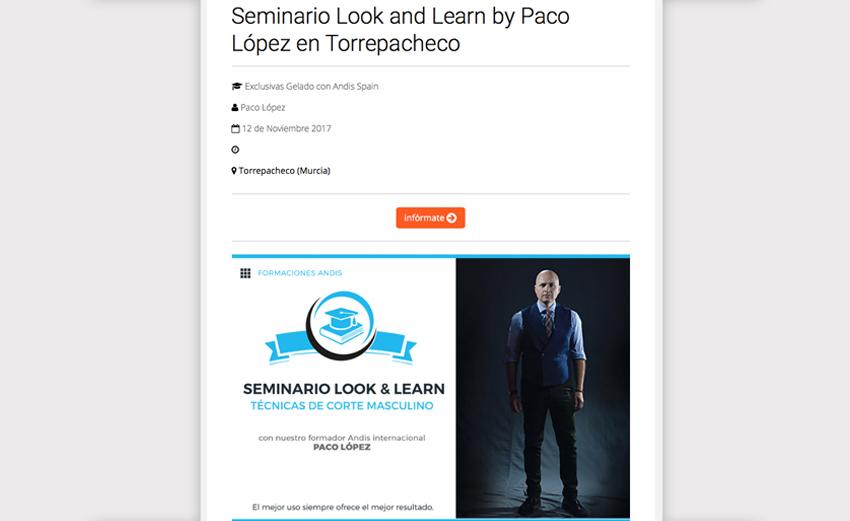 seminarios andis con Paco López