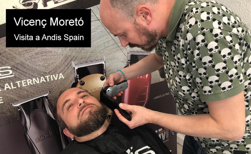 corte de barba por Vicenç Moretó andis