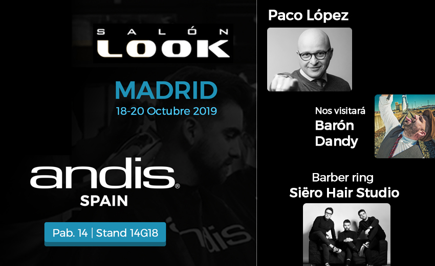David Siero y Paco Lopez en salon look 2019 andis