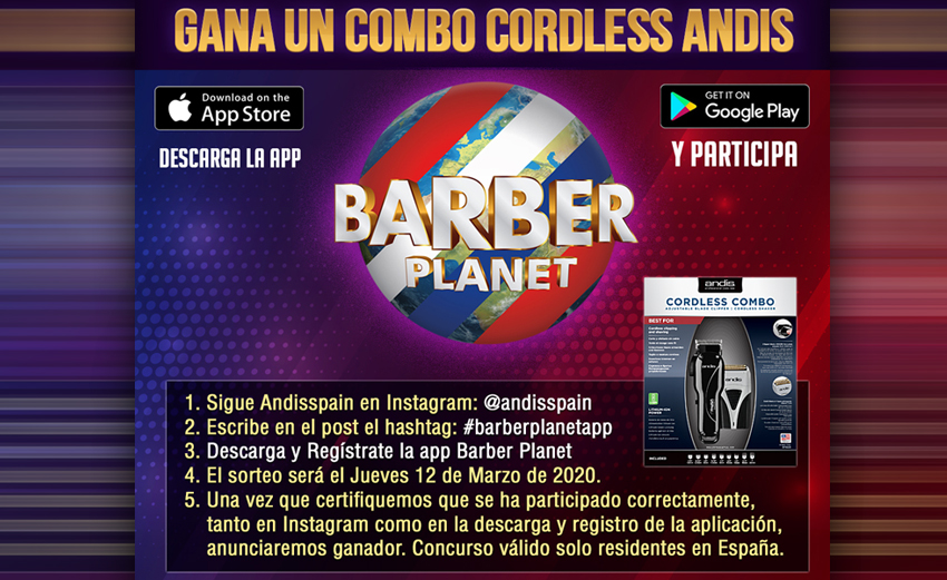 Combo Cordless Andis con Barber Planet App
