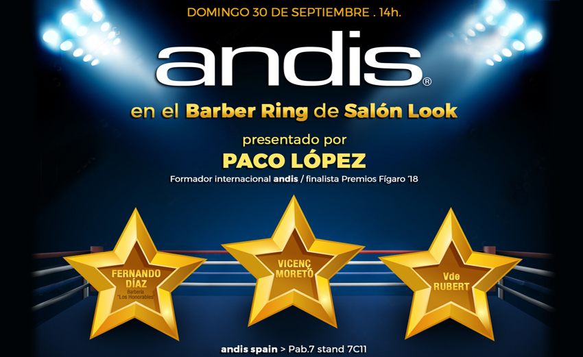 barber ring salon look con andis