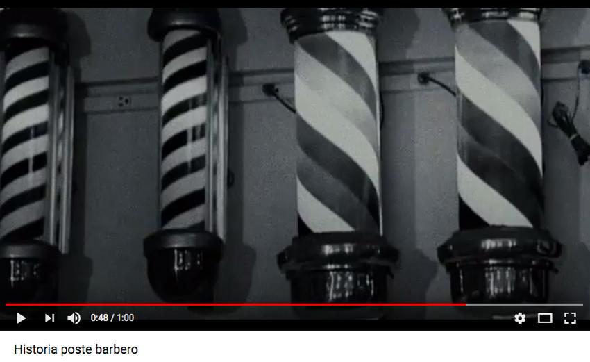 video de la historia del poste barbero